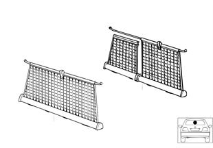 Installation kit for trunk room net