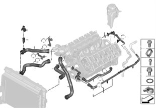 냉각시스템-냉각수 호스
