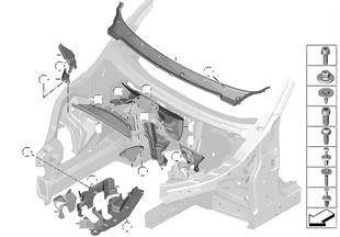 Piezas de montaje compartimiento motor