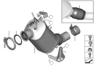 Katalysator/Dieselpartikelfilter