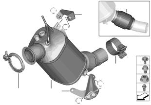 Katalitik konvertör/Dizel partikül filt.