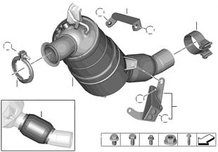 Pot catalytique/Filtre particules Diesel
