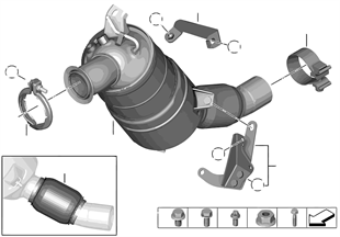 Katalysator/Diesel-Partikelfilter