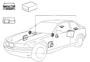 Audio-System mit CD-Wechsler