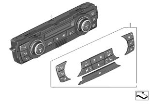 Bediening automatische airconditioning