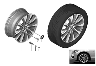 BMW LA wheel V-Spoke 387 — 18''