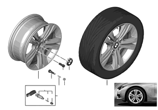 BMW LA wheel Double Spoke 392 — 17''