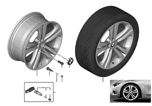 Roue all. BMW doubles rayons 401 — 19''