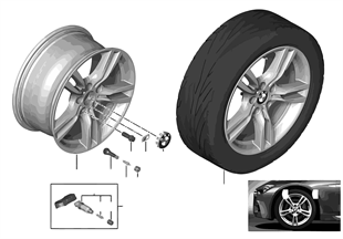 Roue all. BMW M rayons étoile 400 — 18''