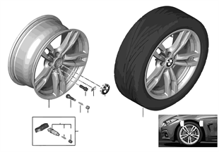 BMW LM-velg M dubele spaak 441 — 18''