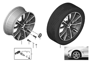 BMW LM-velg turbinestyling 402 — 19''