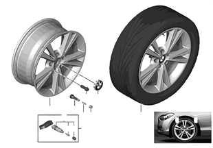 BMW LA wheel, Double Spoke 385