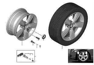 BMW 輕合金車輪 星式輪輻 376