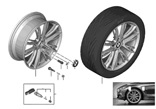 BMW LA wheel M Double Spoke 624 — 20''