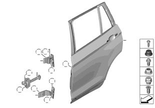 Porta posteriore — cerniera/fermo porta