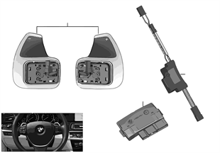 Steering wheel module and shift paddles