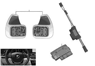 Electrónica del volante y teclas conm.