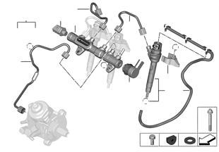 Depós. alta presión/inyector/conducción