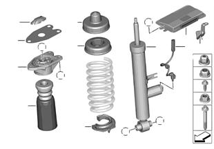 Amortsör kovanı arka/VDC/kontrol ünitesi