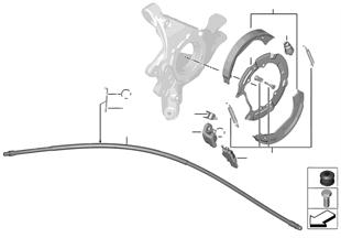Tavão estacionamento/maxilas travão