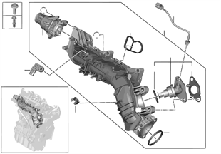 흡기다기관-EGR 장치,플랩 컨트롤 포함