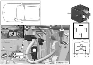 Relé elek.ventilátor motor 400/600W K5
