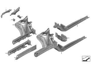 Passaruota/supporto motore