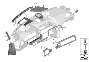 Anbauteile Instrumententafel oben