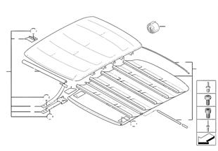 Capota de techo plegable/corredizo