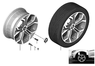 BMW LM Rad Y-Speiche 607-18''