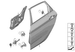 Dveře vzadu — závěs/dveřní brzda
