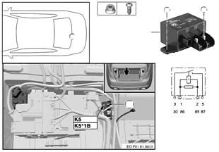 Relé elek.ventilátor 800/1000W K5