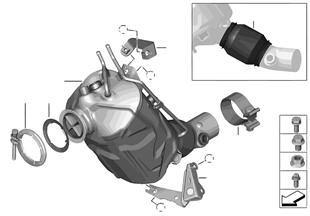 Katalizator/Przeciwpyłk. filtr paliwowy