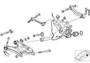 Držák zadní nápravy/zavěšení kola