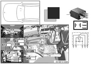 Relais essuie-glace arrière K91