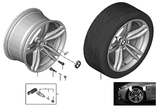BMW LA wheel M Double Spoke 437M — 19""