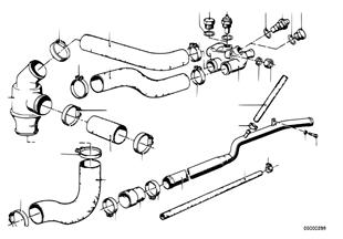 Σύστ. ψύξης-θερμοστάτ./οδηγ.σωλήνα νερού