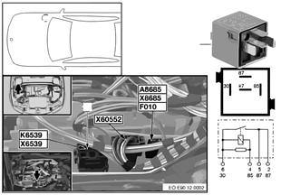 Relé calefacción purga aire motor K6539