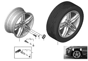 """BMW LM Rad M Doppelspeiche 483M — 17"""""""