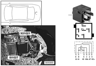 Relé bomba del compresor I01027