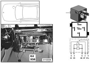 Relé ventilátor topení K4