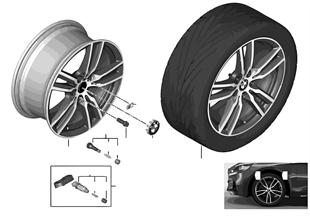"""BMW LM Rad M Doppelspeiche 486M — 18"""""""