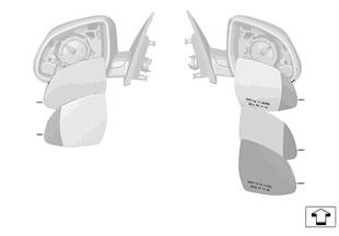 Cristal retrovisor (S430A)