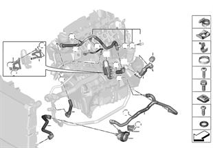 冷卻系統 - 冷卻液軟管 發動機