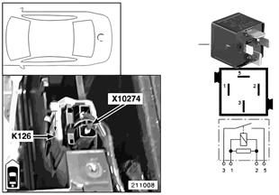 Реле компрессора пневм.подвески K126