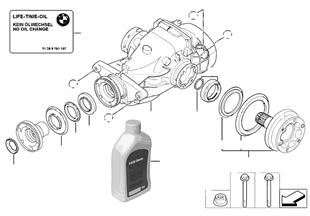 Hinterachsgetriebe-Antrieb/Abtrieb