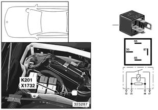 Relé přídavný ventilátor stupeň 3 K201