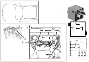 繼電器 車門鎖加熱裝置 K54