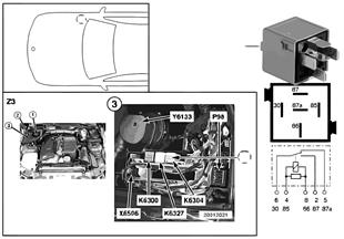 릴레이, 2차 공기펌프 K6304