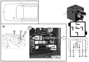 릴레이, 우측 차폭등/번호판등 K25